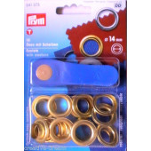 Lot de 10 Oeillets Diam. 14mm Euromarine